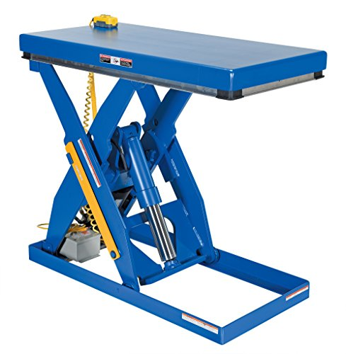 (Vestil EHLT-2448-3-43 Electric Hydraulic Scissor Lift Table, 3000 lbs Capacity, 48-3/8