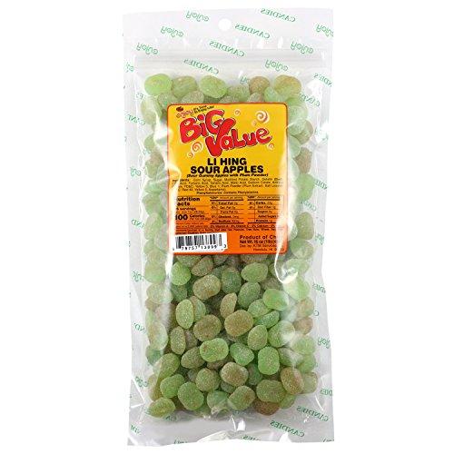 Enjoy Li Hing Mui Sour Apples Hawaii Snacks 1 Lb. (16 Oz.) Bag ()