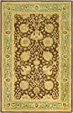 Kitchen Rugs At Wayfair Safavieh Antiquity Collection AT21G Handmade Traditional Oriental Brown and Green Premium Wool Area Rug (5' x 8')