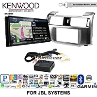 Volunteer Audio Kenwood DNX874S Double Din Radio Install Kit with GPS Navigation Apple CarPlay Android Auto Fits 2010-2013 Toyota 4Runner with Amplified System