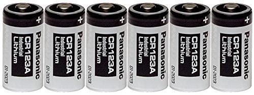 Panasonic Industrial CR123A Lithium Battery 3V 6 (3v Lithium Alarm)