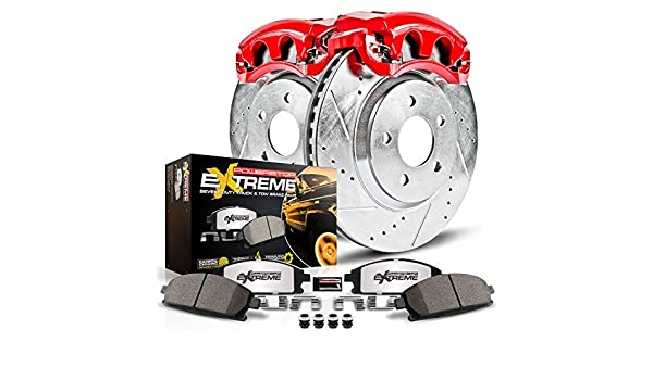 Power Stop KC5088-36 Front Z36 Truck /& Tow Performance Brake Kit with Powder Coated Calipers/