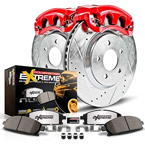 Power Stop KC1990-36 Front Z36 Truck and Tow Brake Kit with Calipers