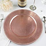 Tiger Chef Round Charger Plates Pink Beaded