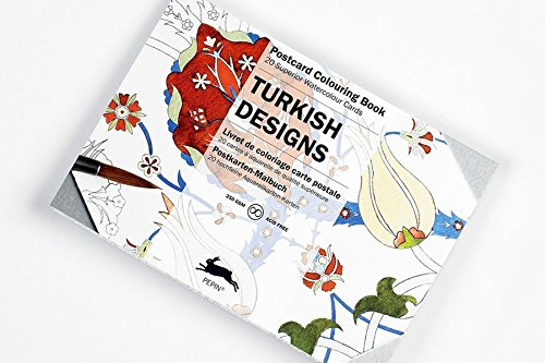 Artists' Colouring Postcard Turkish Designs