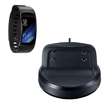 Sannysis Base de Cargador para Samsung Gear Fit 2 II SM-R360