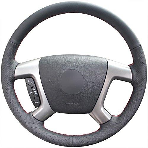 Loncky Car Steering Wheel Cover for Chevrolet 2008-2013 Silverado 1500 / Silverado 2500 3500/2007-2014 Tahoe / 2007-2014 Suburban 1500/2007-2013 Avalanche 1500/2009-2015 Traverse/Express Chevy