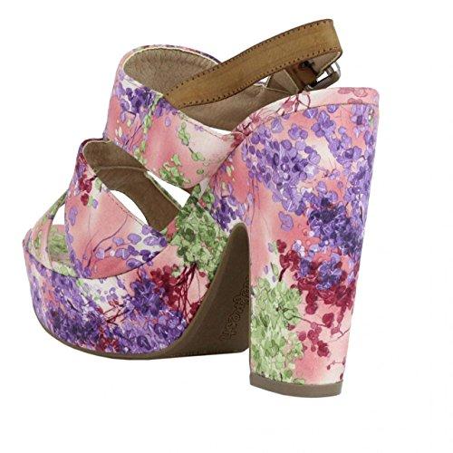 Sandalias de Mujer REFRESH 61713 TEXTIL FLOR NUDE