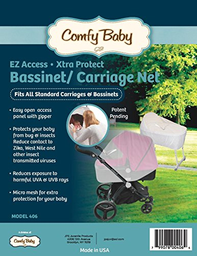 Comfy Baby EZ Access Zippered Window Bassinet & Carriage Net by Comfy Baby (Image #2)