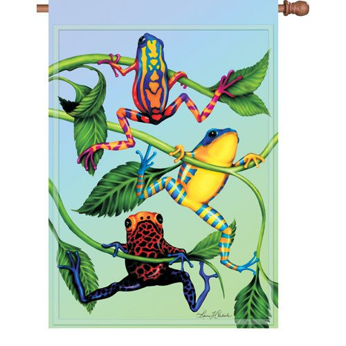 Premier Kites 52835 House Brilliance Flag, Hanging Tree Frog, 28 by 40-Inch