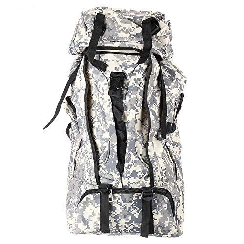 K&A Company 90L Outdoor Tactical Bag Climbing Backpack Waterproof Mountaineering Camping Hiking Trekking Rucksack, Gray Camo