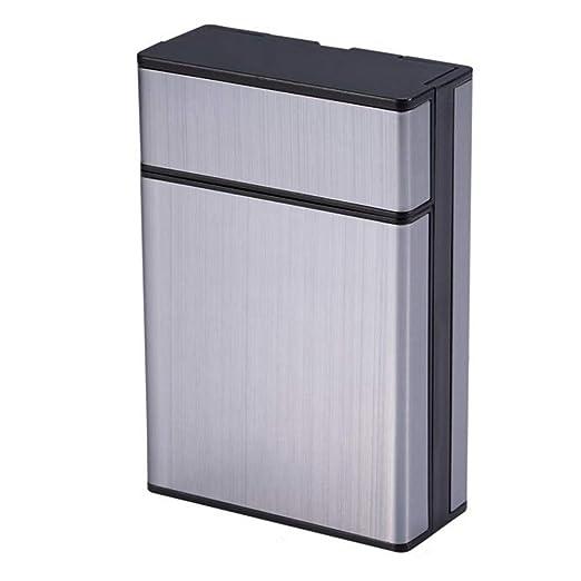 HHR Pitillera, pitillera metálica compacta y portátil fácil de ...