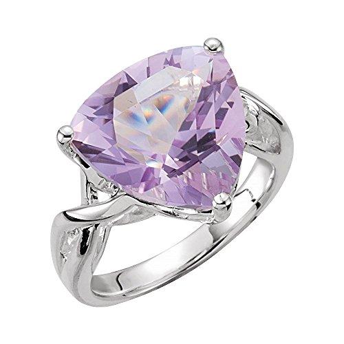 (Bonyak Jewelry Amethyst Rose De France Quartz Ring in Sterling Silver - Size 7)