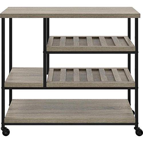 Altra Elmwood Multi-purpose Spacious Shelves Rolling Cart