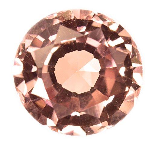 Created Padparadscha Sapphire Loose Lab Gemstone Round (Lab Created Gems)