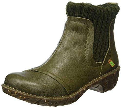El Naturalista Ne23 Soft Grain Yggdrasil, Botas Chelsea para Mujer Verde (Kaki)