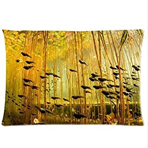 Best Seller Pillowcase,Tadpole In The Water Plant Tadpole Pillowcase,One Side Pillowcase Pillow Cover 20x30 inches