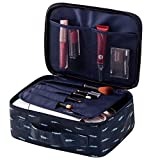 Feather pattern Portable Travel Makeup Cosmetic Bags Organizer Multifunction Case for Women (Feather pattern)
