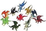 Just4fun 3 Dozen (36) Mini Dragon Toy Figures - 2' Party Favors - Prizes - Fantasy - Pretend Play Mythical