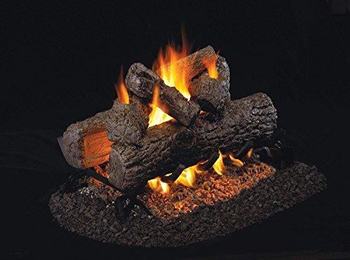 RealFyre Golden Oak Vented Gas Logs (R-2-30), See-Thru, 30-Inch ()