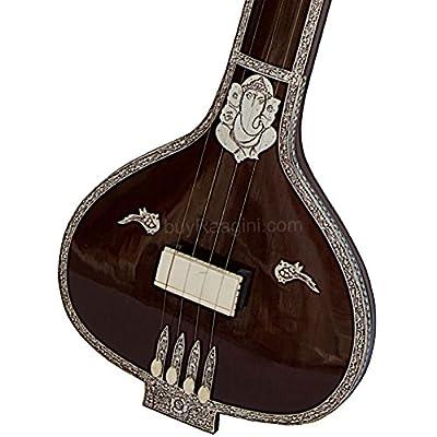 Monoj K Sardar Om Tanpuri, 4 Strings MKS Instrumental Flat Tambura, Tanpura/Tamburi, Extra String Set, Incudes Fiber case (US-PDI-CHD)