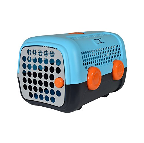 Petego United Pets A.U.T.O Pet Carrier, Light Blue, 14.5 Inches by 20 Inches by 13 Inches