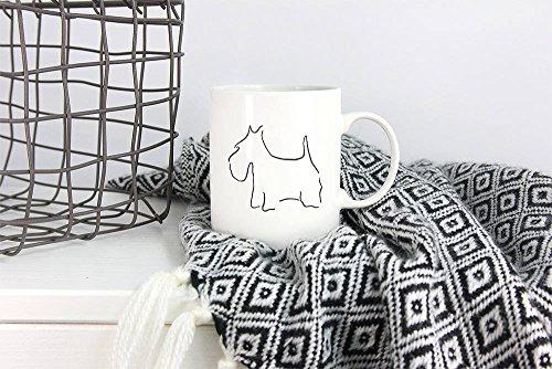 LIZNICE - Scottish Terrier, Dog Coffee Mug, Minimalist Gift, Scottish Terrier Gift, Dog Lover Gift, Dog Coffee Cup, Animal Lover, Dog Gift Ideas MUG 15oz by LIZNICE