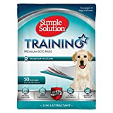 Simple Solution Training Puppy Pads | 6 Layer Dog Pee Pads, Absorbs Up to 6 Cups of Liquid | 23x24 Inches, 100 Count