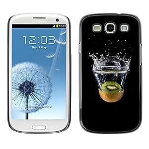 EJOY---Cubierta de la caja de protección la piel dura para el ** Samsung Galaxy S3 ** --Kiwi Agua