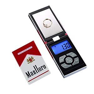Digital Pocket Scale, 200g/0.01g Portable High Precision Jewelry Weight Electronic Digital Scale Gram Mini Scale Portable Weighting LCD Display, for Jewellery, Drug, Coffee