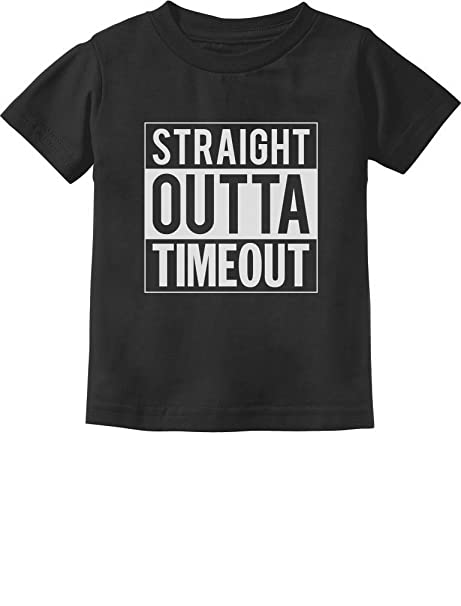 52c84e910 TeeStars Straight Outta Timeout Funny Toddler/Infant Kids T Shirt 3 6 months