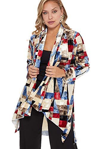 Jostar Women's Velvet Burnout Vegas Jacket Long Sleeve
