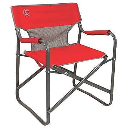 Tremendous Coleman 2000019421 Chair Steel Deck Red Machost Co Dining Chair Design Ideas Machostcouk