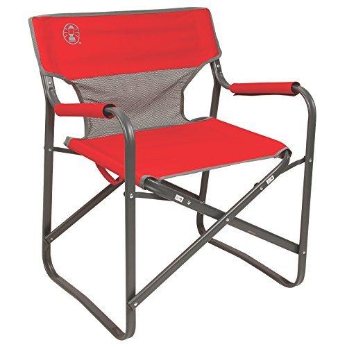 Coleman 2000019421 Chair Steel Deck Red (Chairs Outdoor Directors)