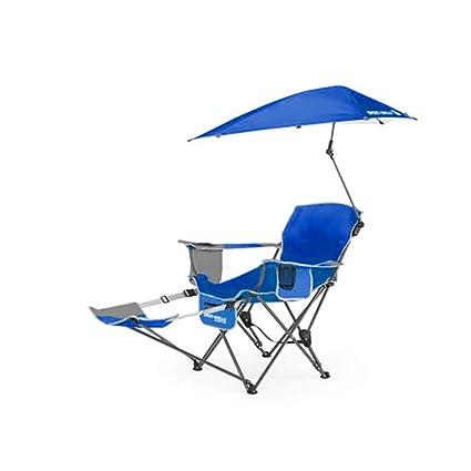 HYRL Sillón reclinable, Deporte portátil Sol Abrigo Tiempo Paraguas reclinable Silla Plegable, al Aire