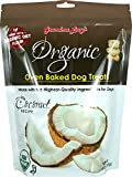 Grandma Lucy's 1 Piece Organic Baked Dog Treats (Wheat Free) Coconut, 14 oz/One Size