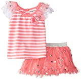 Little Lass Baby Girls' Stripe Daisy Disco Dot Scooter Set