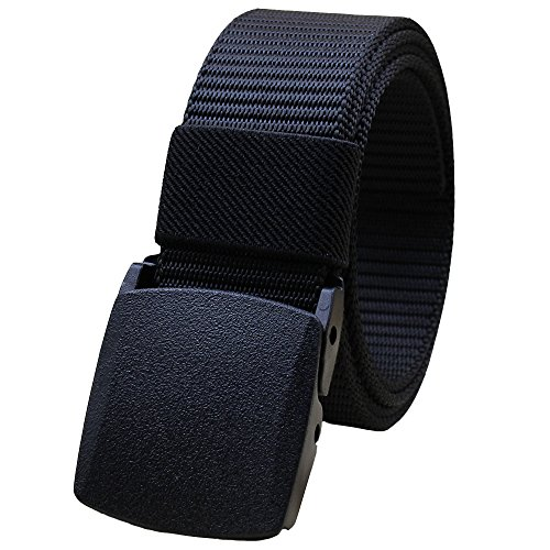 Men's Nylon Canvas Breathable Military Tactical Men Waist Belt With Plastic (Canvas Waist Belt)