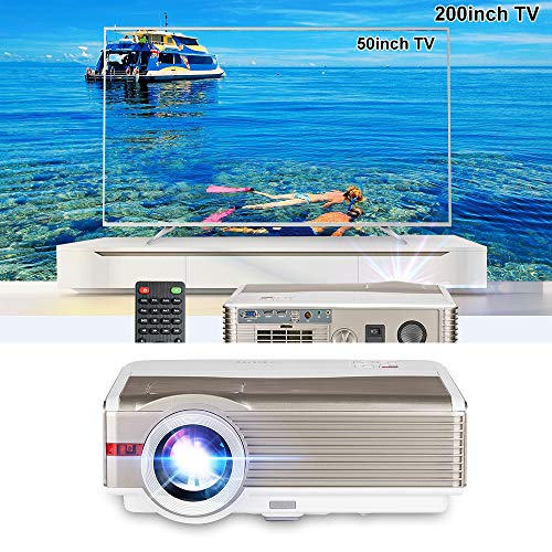 LED Video Projector 1080p, EUG LCD Digital Home Theater Movie Projectors...