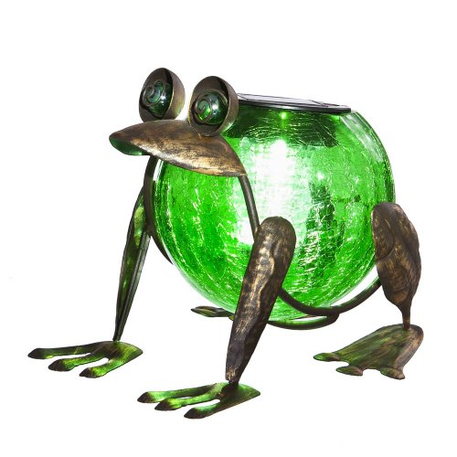 - Evergreen Garden Quirky Solar Frog Lantern