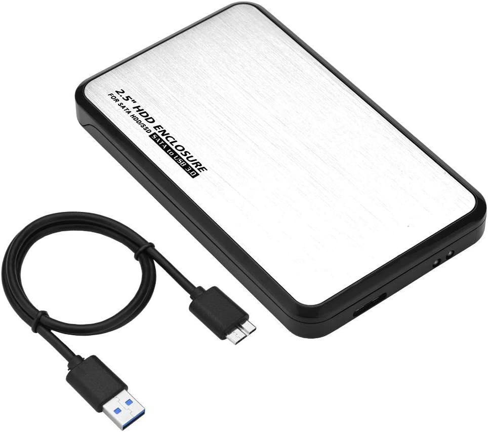 Zopsc 2.5 Inch SATA USB 3.0 Mobile Hard Disc Drive External Enclosure HDD SSD Case Box with 5Gbps Data Transmission Speed Support Hot Plugin.