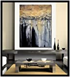 HUGE! LIMITED EDITION - Hand embellished, textural abstract painting. Giclee on Canvas. 48x36x1.5 TRANQUIL EARTH. Ready to Hang!