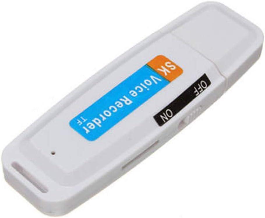 Negro GCDN Grabadora de Voz WAV Unidad Flash Profesional Audio USB Digital Soporte TF Tarjeta U Disco Pl/ástico Port/átil Mini Recargable