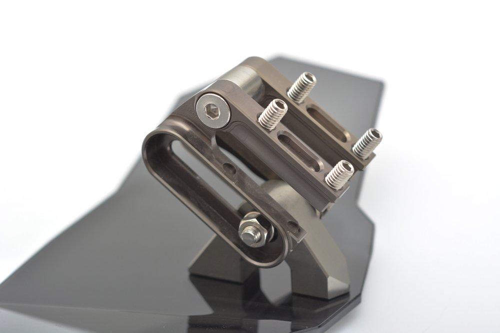 Tencasi Universal deflector de viento ajustable para motocicleta