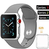 42mm Watch Band, Acytime Durable Soft Silicone Replacement iWatch Band Sport Style Wrist Strap for Apple Watch Band Series 3 Series 2 Series 1 Sport, Edition 42mm