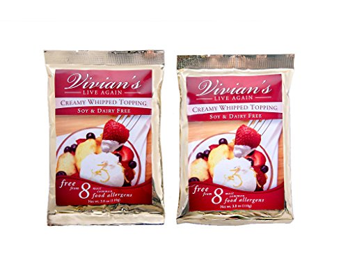 Vivian's Live Again Vegan Whipped Cream Replacement Mix-Dairy Free- Gluten Free - 2 Pack Coconut Milk Whipped Cream