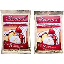 Vivian's Live Again Vegan Whipped Cream Replacement Mix-Dairy Free- Gluten Free - 2 Pack