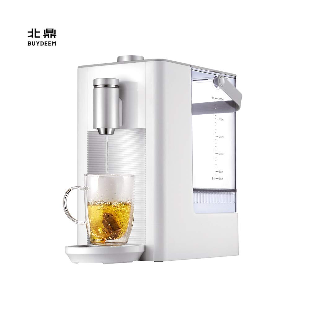 Buydeem S7123 Water Boiler And Warmer, Fresh, Instant, Adjustable Temperature, No Repeating Boiling, 2.6 Liter, White