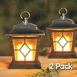 Kingavon - 2 lanterne con candele a energia solare per uso esterno