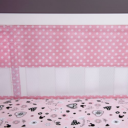 minnie mouse crib bumper - 9